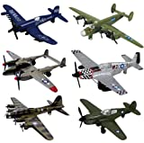 InAir WWII Planes 6 Piece Set with Aircraft ID Guide - Assortment 1 (Discontinued by manufacturer)