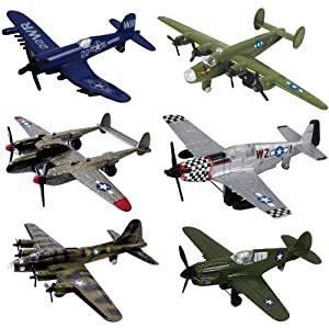 Amazon Com Inair Wwii Planes 6 Piece Set With Aircraft Id