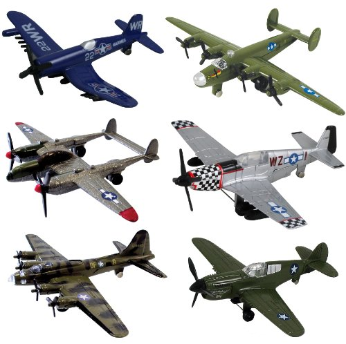 InAir WWII Planes 6 Piece Set with Aircraft ID Guide - Assortment 1 (Discontinued by manufacturer) (Wwii Model Airplanes compare prices)