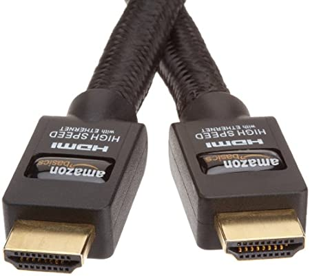 AmazonBasics High-Speed HDMI Cable with Ethernet - Braided (9.8 Feet/3.0 Meters)