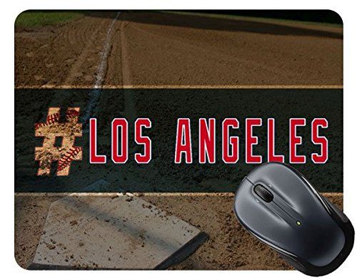 BleuReign(TM) Hashtag Los Angeles #LosAngeles Anaheim Baseball Team Square Mouse Pad