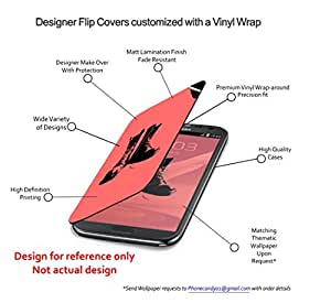 Phone Candy Designer Flip Cover with hi-res printed Vinyl sticker wrap-around for Xiaomi Redmi Mi4i