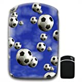 It's Raining Footballs Soccer Balls For Amazon Kindle Fire & Kindle 3G Keyboard Soft Protection Neoprene Case Cover Sleeve Bag With Pocket which is Ideal for Headphones, Data Cable etc