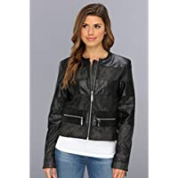 Vince Camuto Women's Leather Moto Jacket