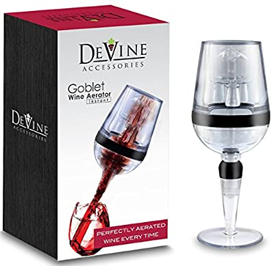 DeVine- AERATOR, Goblet Design Instant Wine Aerator - Professional Grade - Aerate Wines in Seconds
