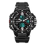 DEEBOL Dual Time Electronic Watches for Men Water Resistant Sports Watch Men Watches