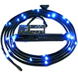 NZXT - Gaine Lumineuse - 24 LEDs - 2 metres - Sleeved LED Kit - CB-LED20-BU - Bleu
