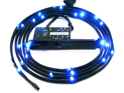 Nzxt Cb-Led10-Bu Light Sensitivity Sleeved Led Kit (1-Meter) (Blue)