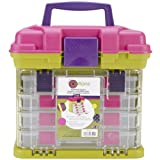 Creative Options Grab'n Go 4-By Rack System-11''X7.25''X10'' Green & Magenta