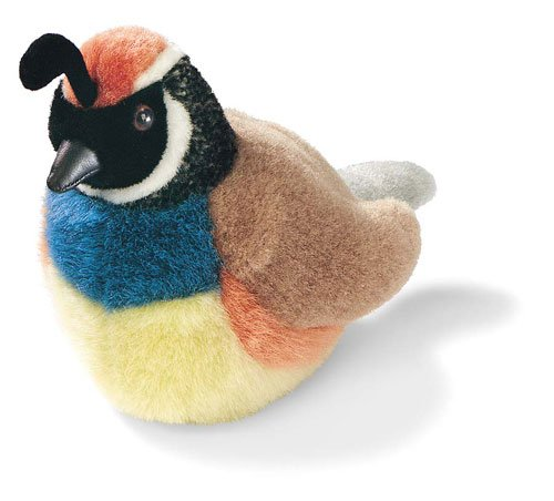 California Quail - Audubon Plush Bird (Authentic Bird Sound)