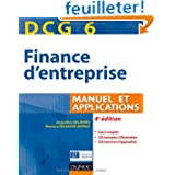 DCG 6 - Finance d'entreprise - 4e édition - Manuel et applications