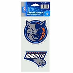Buy NBA Charlotte Bobcats 4-by-8 Die Cut Decal by WinCraft