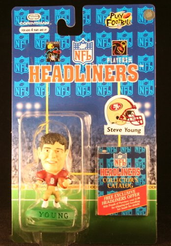STEVE YOUNG / SAN FRANCISCO 49ERS * 3 INCH * 1996 NFL Headliners Football Collector Figure