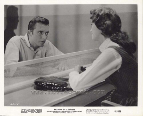 Anatomy Of A Murder Starring Ronnie Burns and Pamela Lincoln,