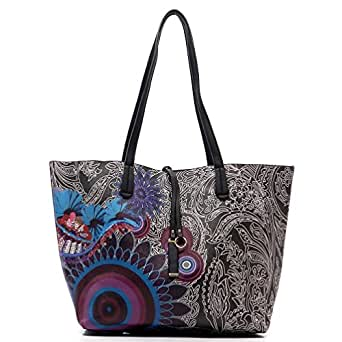 MyLux® Women Fashion Designer X-Large Flower Printed Tote Handbag