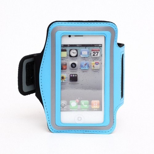 Slim Trendy Sport Armband Cover Case For Apple Iphone 4 4S(Blue)
