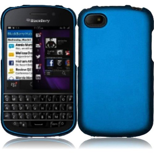 Cell Accessories For Less (Tm) For Blackberry Q10 Rubberized Cover Case - Cool Blue - By Thetargetbuys *Free Shipping*