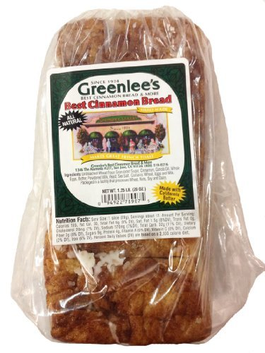 Greenlee's Bakery Cinnamon Bread 20 Oz Loaf (Pack of 2) (Cinnamon Bread compare prices)