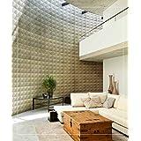 Easy Peel And Stick, Durable Plastic 3D Wall Panel - DIAMOND Design. 12 Panels. 32 SF