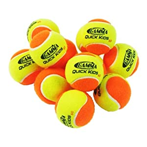 Gamma Quick Kids 60 Ball (12/Pack, Orange/Yellow)