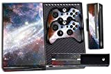 Designer Skin Sticker for the Xbox One Console With Two Wireless Controller Decals Nebula