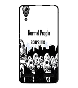 PrintDhaba Quote D-3743 Back Case Cover for LENOVO A6000 PLUS (Multi-Coloured)