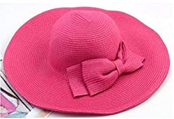 eNVOGUE BEACH HAT, CAP, SUN HAT ,BRIM STRAW HAT WITH BOW ,UV & SUNTAN PROTECTION, GENUINE IMPORT FROM SINGAPORE STAND OUT OF THE CROWD.