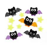 Felties Felt Stickers Bats and Stars 12 pieces