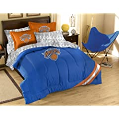 NBA New York Knicks Full Bed in a Bag with Applique Comforter by Northwest