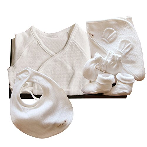 100% Organic Baby Gift Set_ Luxury Newborn Unisex 5 piece Layette Gift Set - 1