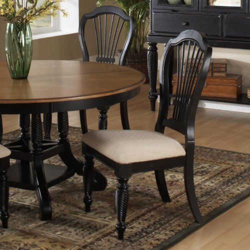 Cheap Hillsdale Wilshire Sideboard Dining Chair – Rubbed Black – Set of 2 (4509-802)