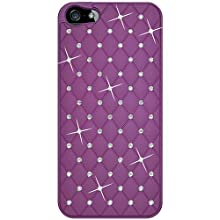 Amzer Diamond Lattice Snap On Shell Case For IPhone 5 (Purple)