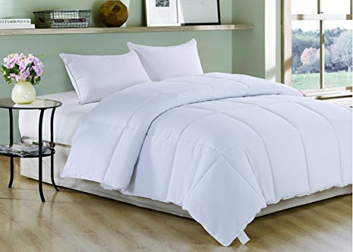 Read About White Polyester Medium Warmth Queen/King Down Alternative Comforter Duvet insert , 88 x ...