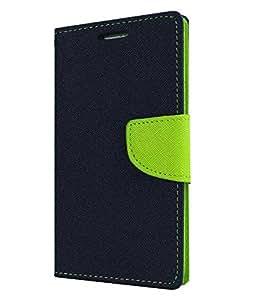 DR2S Mercury Wallet Flip Cover for Samsung Galaxy Grand Quattro I8552 - Blue & Green