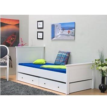 einzelbett paris 90 x 200 bettgestell jugendbett g stebett. Black Bedroom Furniture Sets. Home Design Ideas