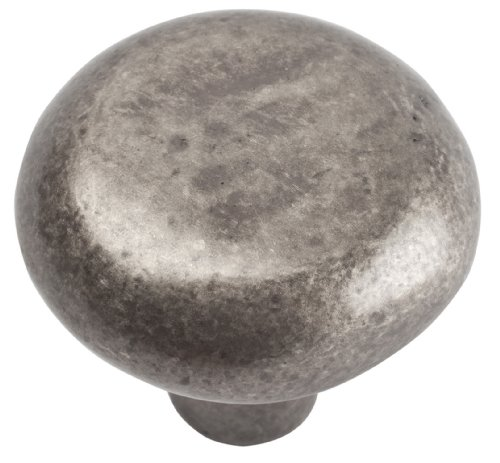 Atlas Homewares 331-P Distressed Collection 1.38-Inch Round Knob, Pewter front-981965