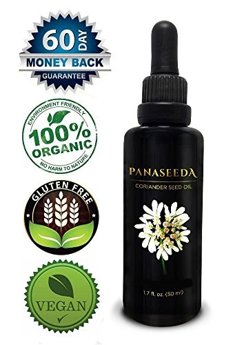 Coriander Seed Oil, 50 ml, Vegan & Organic. Natural Candida Cleanse