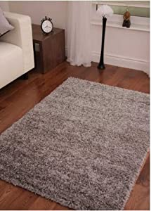 SUPER SOFT LUXURY GREY SHAGGY RUG 5 SIZES AVAILABLE 240cm x 340cm (7ft 9 x 11ft 3) by Modern Style Rugs