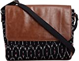 Fable Folks Women's Cross-Body Bag Blue and Brown FF012