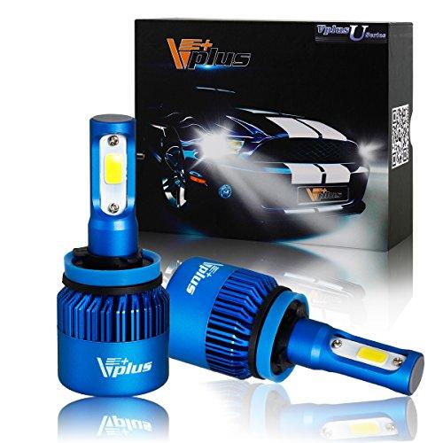 Vplus U Series LED Headlight Bulbs w/ Clear Focused Beam Kit - H8 H11 H9 80W 8,000LM 6500K White COB w/ Fan LED Headlamp Conversion Replace HID & Halogen - 2 Yr Warranty - (2pcs/set) (07 Bmw 335i Spark Plug Socket compare prices)