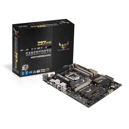 Asus Sabertooth Z97 Mark 2 Mainboard Sockel 1150 (ATX, Intel Z97, 4x SATA, 1x SLI, ASUS Q-Shield)
