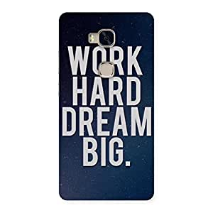 Delighted Hard Dream Back Case Cover for Huawei Honor 5X