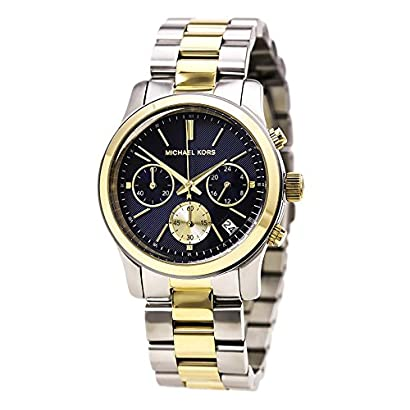 580bce0c3c Michael Kors Watches Runway Chronograph Stainless Steel Watch  (Silver Gold Blue)