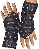 Elegant Moments Leather gloves w/ studs L9267 (BLACK,ONE SIZE)