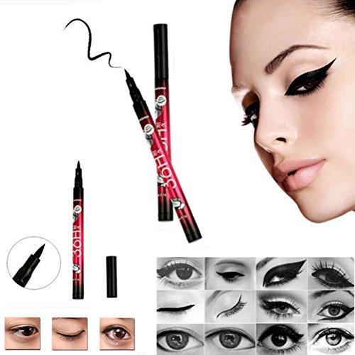 LEORX Waterproof Eyeliner liquido penna e Shaper Eyeliner per estetiche di trucco dell'occhio