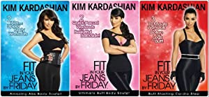 Kim Kardashian Fit in Your Jeans by Friday 3 DVD Pack Amazing Abs, Ultimate Butt and Butt Blasting Cardio Body Sculpt