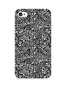 AMEZ designer printed 3d premium high quality back case cover for Apple iPhone 4 (doodle)
