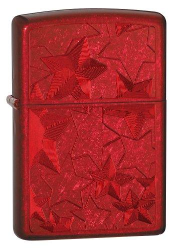 Zippo Candy Ice Stars Lighter, Apple Red