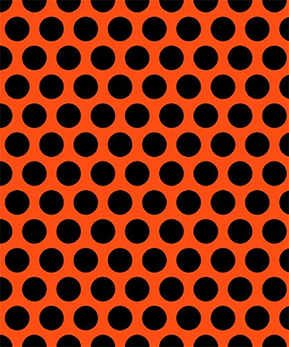 [Knit Orange with Big Black Dots Design Fabric By the Yard, 95% Cotton, 5% Lycra, 60 Inches Wide, Excellent Quality, 4 Way Stretch, medium weight (1] (Awesome 3 Person Halloween Costumes)