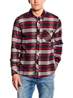 LTB Jeans Camisa Hombre Gifafe (Rojo / Gris)